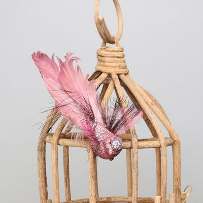 Pink Fantasy Bird w/clip