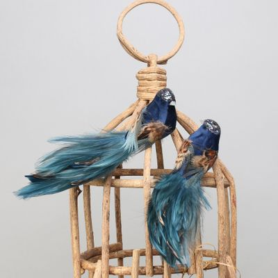 Blue Pretty Bird w/clip