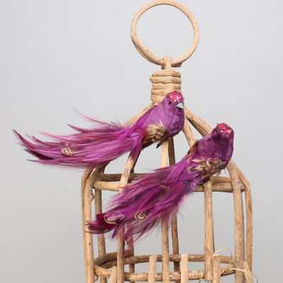 Purple Pretty Bird w/clip
