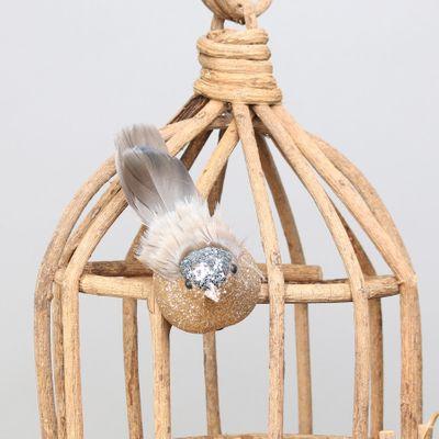 Silver Longtail Finch w/clip