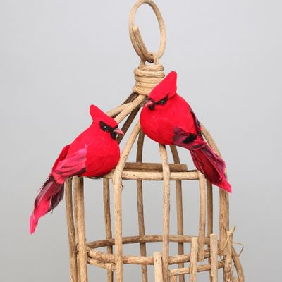 Cardinal Bird w/clip