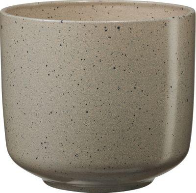 Bari Ceramic Pot Brown Effect (W16 x H14cm)