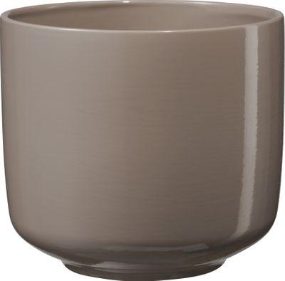Bari Ceramic Pot Grey-Beige (W16 x H14cm)