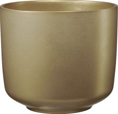 Bari Glamour Ceramic Pot Pearl Gold (W16 x H14cm)