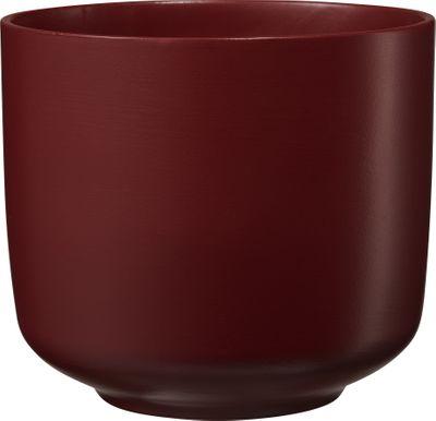 Bari Glamour Ceramic Pot Matt Wine Red (W16 x H14cm)