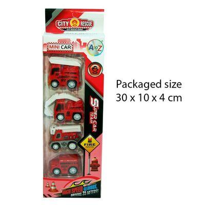 T20124 4pcs Mini Fire Vehicles