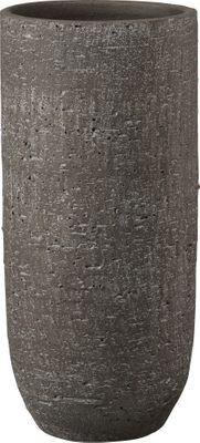 Portland Ceramic Floor Vase Wiped Dark Brown (W22 x H50cm)