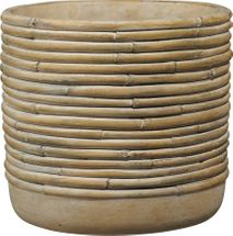 Myanmar Ceramic Pot Bamboo Brown (W18 x H16cm)