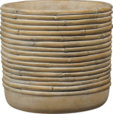 Myanmar Ceramic Pot Bamboo Brown (W22 x H20cm)