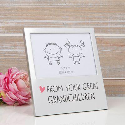 Great Grandchildren Aluminium Photo Frame