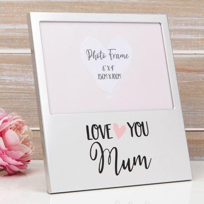 Love You Mum Aluminium Photo Frame