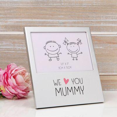 We Love You Mummy Aluminium Photo Frame