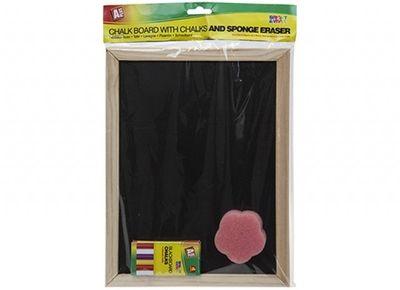 Blackboard with Chalk & Sponge