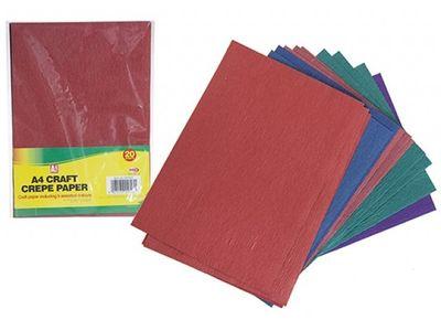 A4 Craft Crepe Paper (20 Sheets)