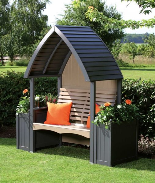 Cottage Arbour- Charcaol and Nutmeg