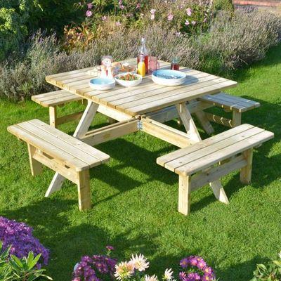 Square picnic bench