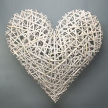 Lafeyette Grey Washed Willow Heart