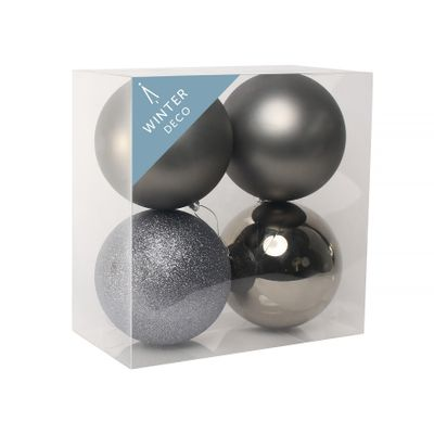 Pewter Shatterproof Babubles (12cm) (4 pieces)
