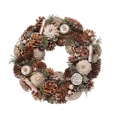 Woodland Gold Glitter Wreath