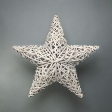 Lafayette Grey washed willow star 80cm