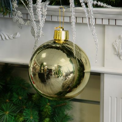 Gold Shiny Shatterproof Bauble (x1) (20cm)