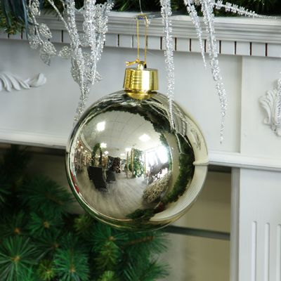 Champagne Shiny Shatterproof Bauble (x1) (20cm)