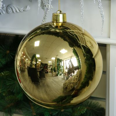 Gold Shiny Shatterproof Bauble (x1) (30cm)