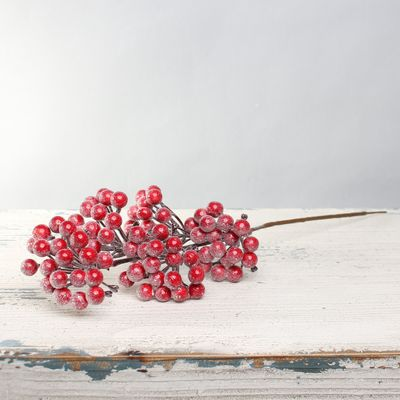 Frosted Red Berry Spray