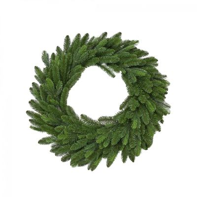 "Vermont 60CM (24"") Spruce Double Wreath 216 Tips"
