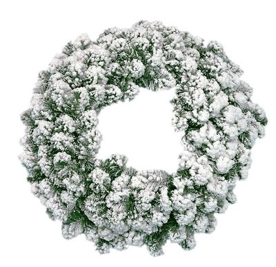 "Oak Creek Flocked 60cm (24"") Double Wreath 180 Tips"
