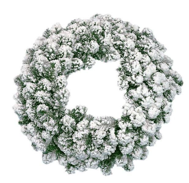 """Oak Creek Flocked 60cm (24"""") Double Wreath 180 Tips"""