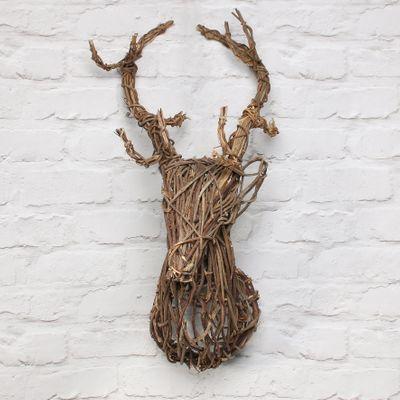 Wallhang.reindeer Head D20 H30 Natural
