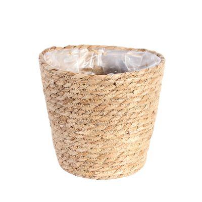 19cm Round Natural Seagrass Basket
