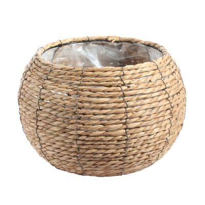 Large Round Grass Basket with Internal Metal Frame 25cm