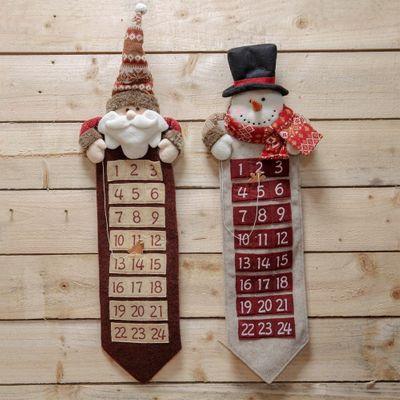 SANTA & SNOWMAN FABRIC ADVENT CALENDER
