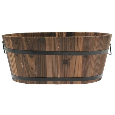 Oval Wooden Trough 45x27x19cm (20)