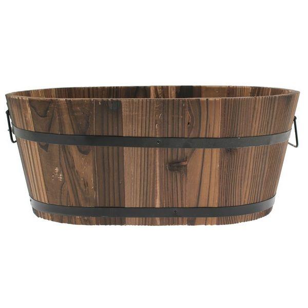 Oval Wooden Trough 45x27x19cm (20)