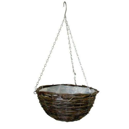 Round Rattan Hanging Basket (16 inch)
