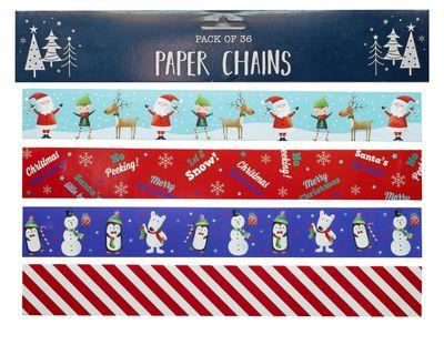 Santa & Friends 36 Paper Chains