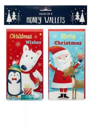 Money Wallets Santa & Friends (4 Pack)