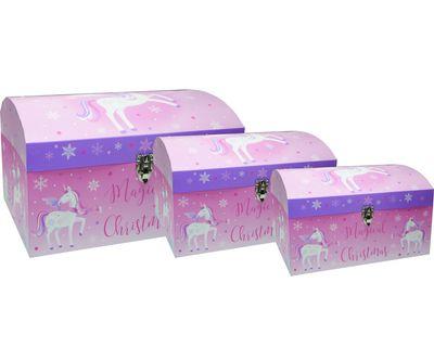 Unicorn Nested Gift Boxes (x3)