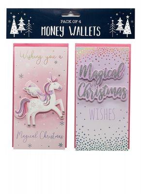 Unicorn Money Wallets (x4)