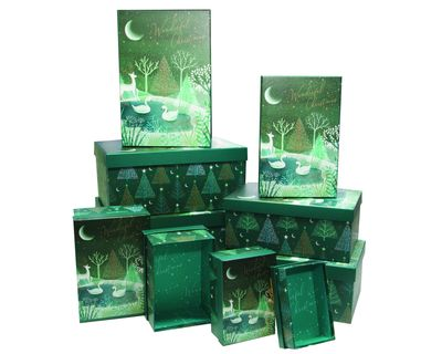 Enchanted Forest Nested Gift Boxes (x10)