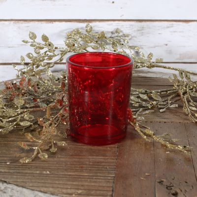 Red Votive Candle Holder (S)