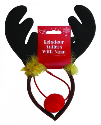 Antler Headband With Nose