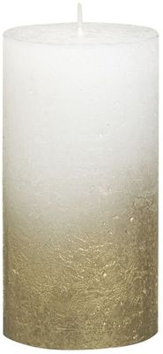Bolsius Rustic Metallic Candle 130 x 68 - Faded Gold White