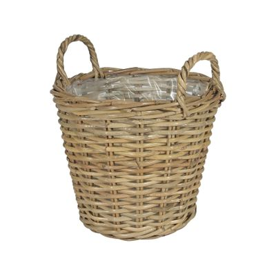 Large Round Basket with Ears & Liner