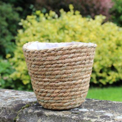 14.5cm Round Corn Husk Basket for 12cm Pot