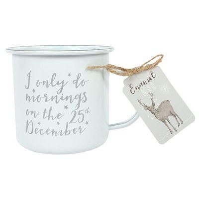 I Only Do Mornings Enamel Style Mug (6/12)