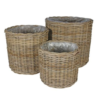 Set 3 Cylinder Baskets with Liners